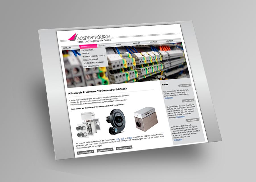 Novotec - Webseite